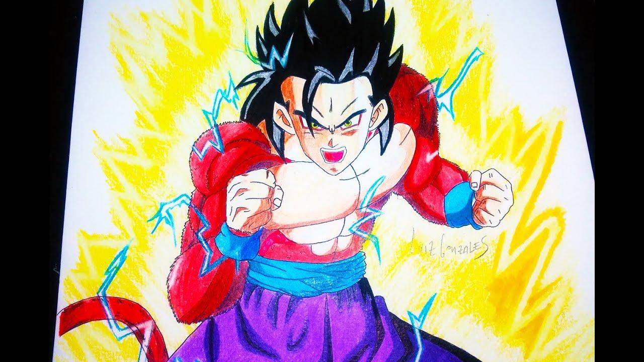 COMO DIBUJAR A GOHAN SSJ 4 - Dragon Ball Heroes How To Draw Gohan ...