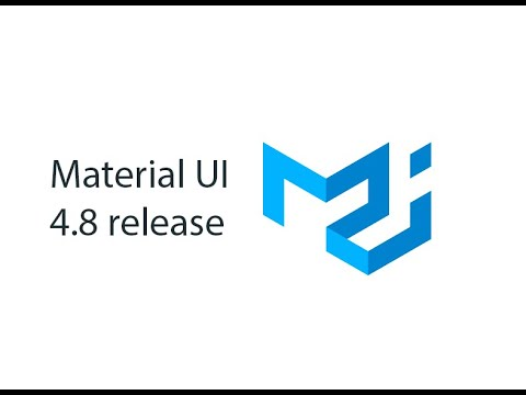Material UI 4.8 Is Out