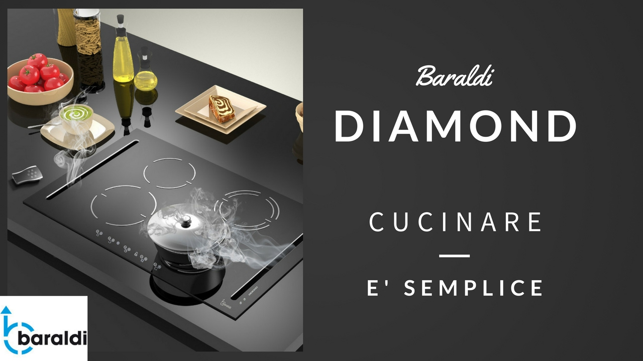 Baraldi Diamond piano cottura con cappa integrata