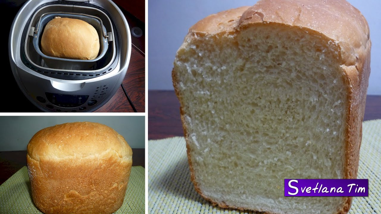 Выпечка белого хлеба в хлебопечке