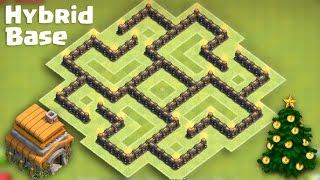Clash Of Clans Town Hall 6 (TH6) Best Hybrid Base [After Big Update]