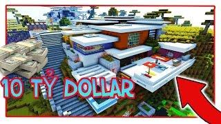 Minecraft - Biệt Thự Đá Đỏ Hiện Đại Trên Đồi Núi