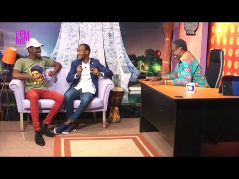 KSM Show- Louis Appiah, the creator of Nazir and Halifax Ansah of Zylofon Cash hanging out with KSM
