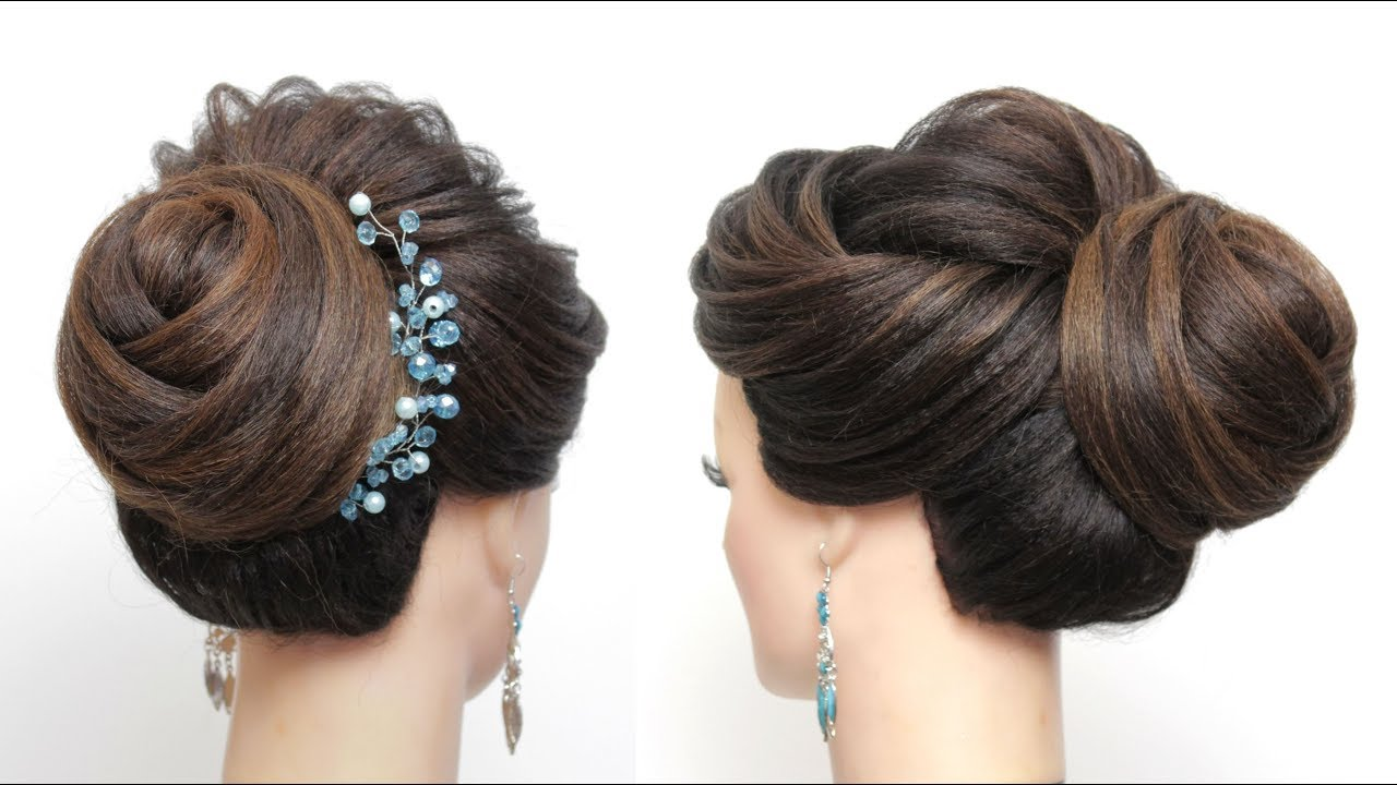 New Bridal Hairstyle Tutorial For Long Hair Wedding Bun