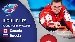 HIGHLIGHTS: Canada v Russia - Men's round robin - World Junior Curling Championships 2020