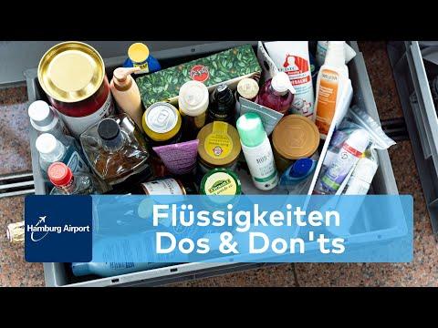 Hamburg Airport erklärt die Regelungen für Flüssigkeiten im Gepäck und Handgepäck