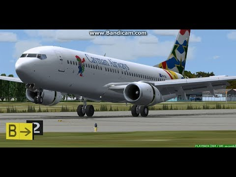 Cayman Airways B737-800 George Town Owen Roberts International Airport MWCR Landing FS9