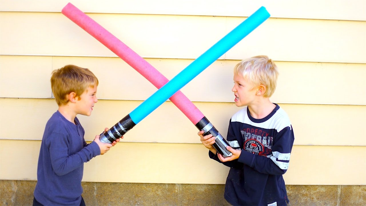 How To Make Kids Lightsabers! Kid Star Wars Crafts! - YouTube for How To Make A Lightsaber For Kids  70ref