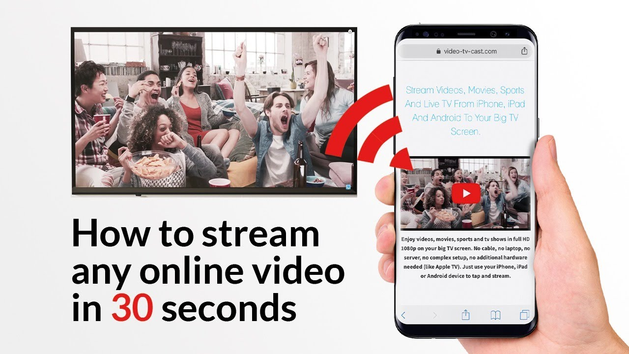 Video And Tv Cast For Samsung >> How To Stream Any Online Video To Your Big Tv In 30 Seconds Youtube