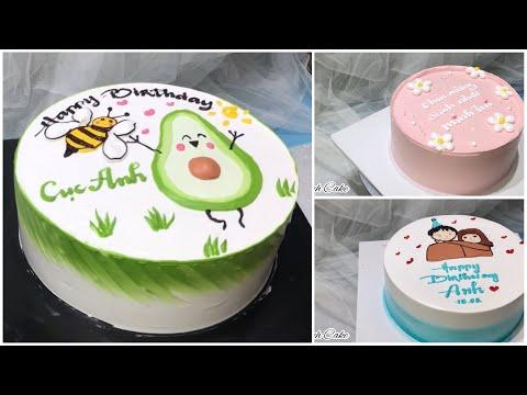 Làm bánh kem vẽ trái bơ siêu yêu, vẽ hàn quốc   How make cake so cute   Dieulinhcake   Foci