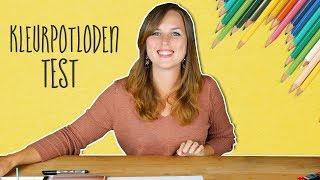 Kleurpotloden uittesten - Stabilo aquacolor, Bruynzeel en Da Vinci Potloden