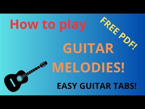 Guitar tab, Love Me Tender, guitar sheet music