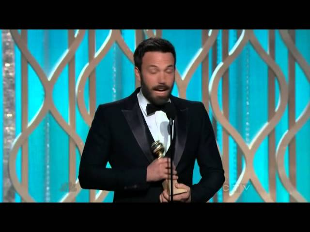 Ben Affleck wins Best Director - Golden Globes 2013