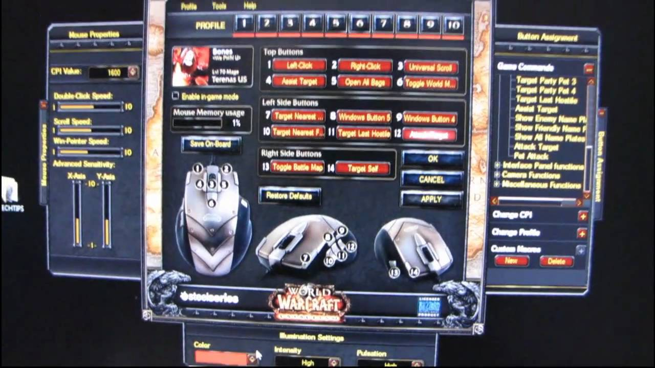 world of warcraft legendary mouse driver
