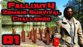Let's Play Fallout 4: Zombie Survival Challenge - Part 1 - Trapped In Sanctuary