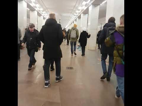 Ленинский проспект метро Москва 7 февраля 2019 г.