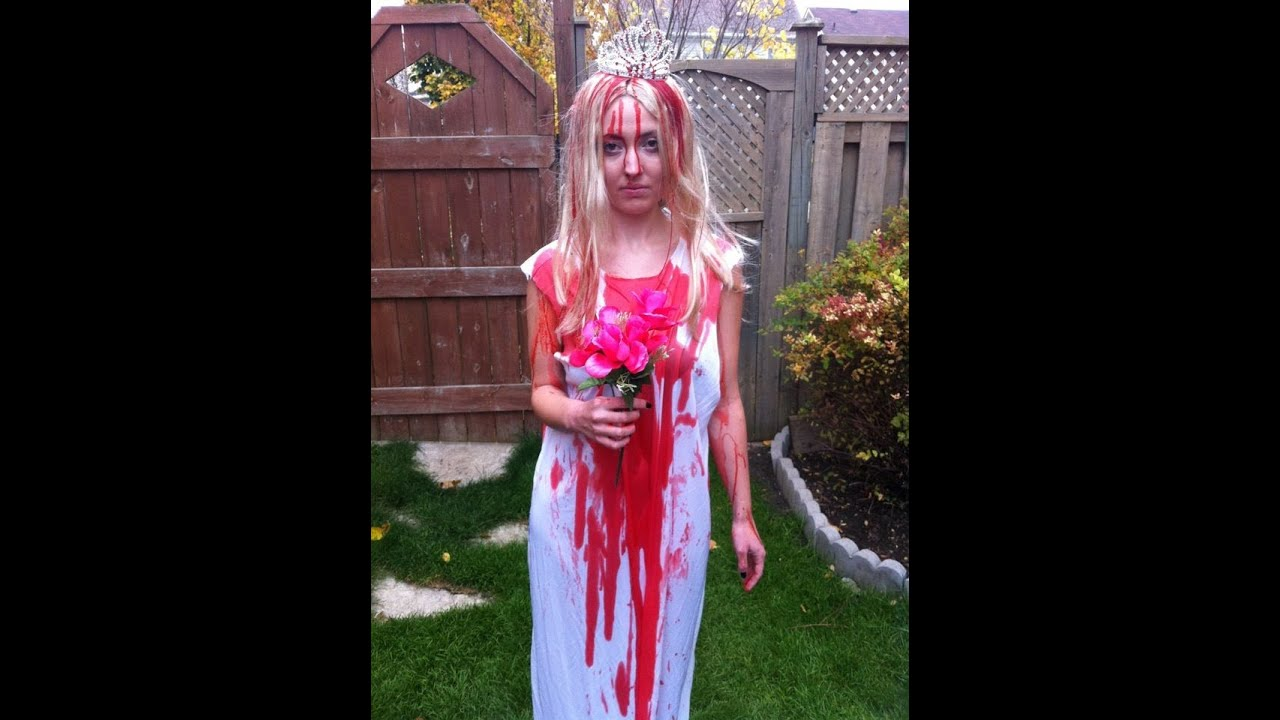 Carrie White Costume Tutorial - YouTube