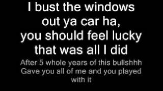 Bust Your Windows By GLEE WIth Lyrics