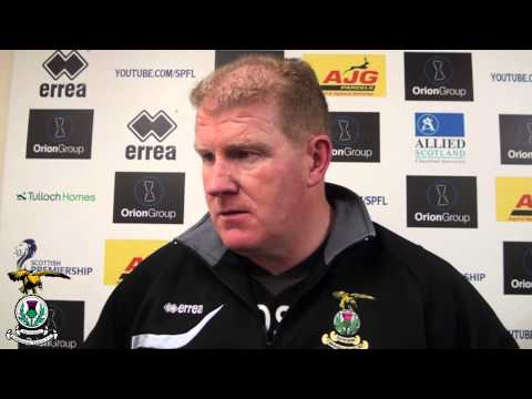CaleyJagsTV: Duncan Shearer post-match v St Johnstone,  23/11/2013