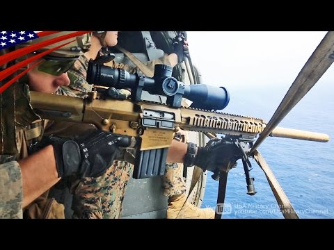 ヘリから空中狙撃!米海兵隊スカウト・スナイパー(前哨狙撃兵) - Aerial Snipe on Helicopter by US Marines Scout Sniper