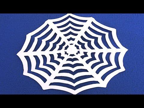 Как сделать паутину из бумаги на хэллоуин