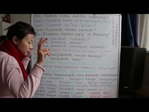 LEARN INDONESIAN LANGUAGE #63 WHAT WHO WHOM WHEN WHERE WHY WHICH HOW + SUFFIX -KAH