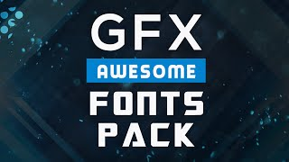 GFX FONTS PACK