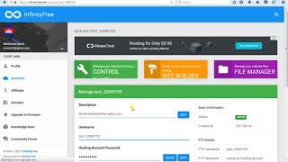 ខ្មែរ How to connection Domain free into Hosting infinityfree.net