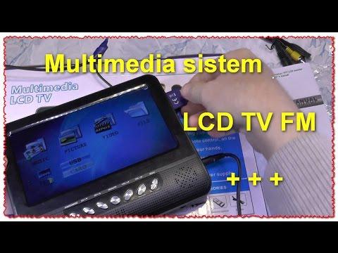 7.5 дюймов TFT LCD Цветной Аналогового ТВ Поддержка SD/MMC
