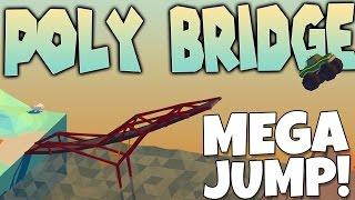 Poly Bridge Gameplay - Huge Monster Truck Jump!