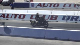 1942 WLA 45 Harley #105 just another Sunday ride at the antique nationals 2014 drag race STCA