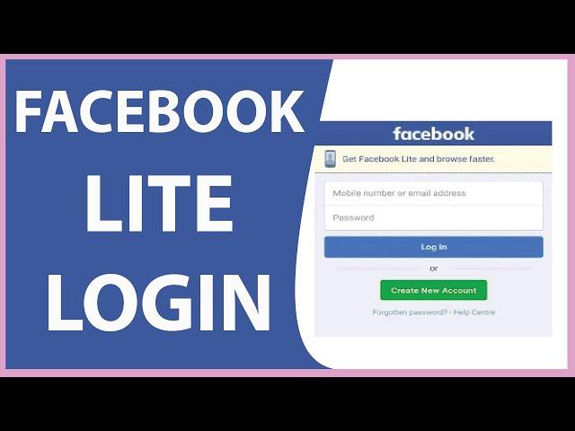 Lite in sign facebook www com Facebook Lite