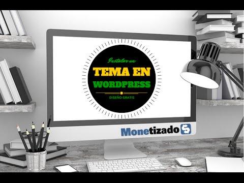 Cómo Instalar un tema en Wordpress gratis - YouTube
