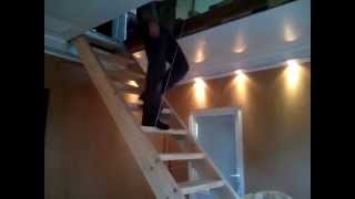 Складная подъемная лестница на чердак.(Складная подъемная лестница на чердак., 2014-05-26T08:53:25.000Z)