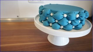 Billowing - Fondant Bauschen - Fondant Billowing cake tutorial . von Kuchenfee