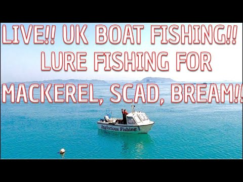 Live UK Boat Fishing - Feathering For Mackerel, Scad And Bream!!!