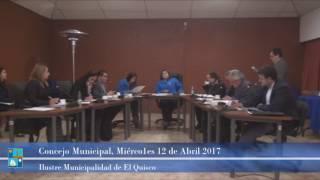 Concejo Municipal Miércoles 12 de Abril 2017