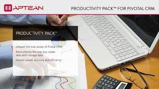 Aptean's Pivotal Productivity Pack