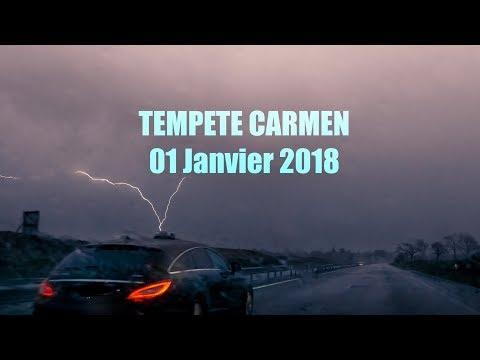 TEMPETE CARMEN et ORAGE - 01/01/2018 BRETAGNE