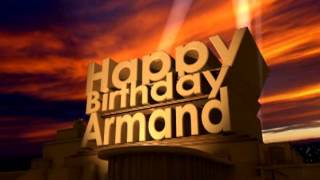 Happy Birthday Armand
