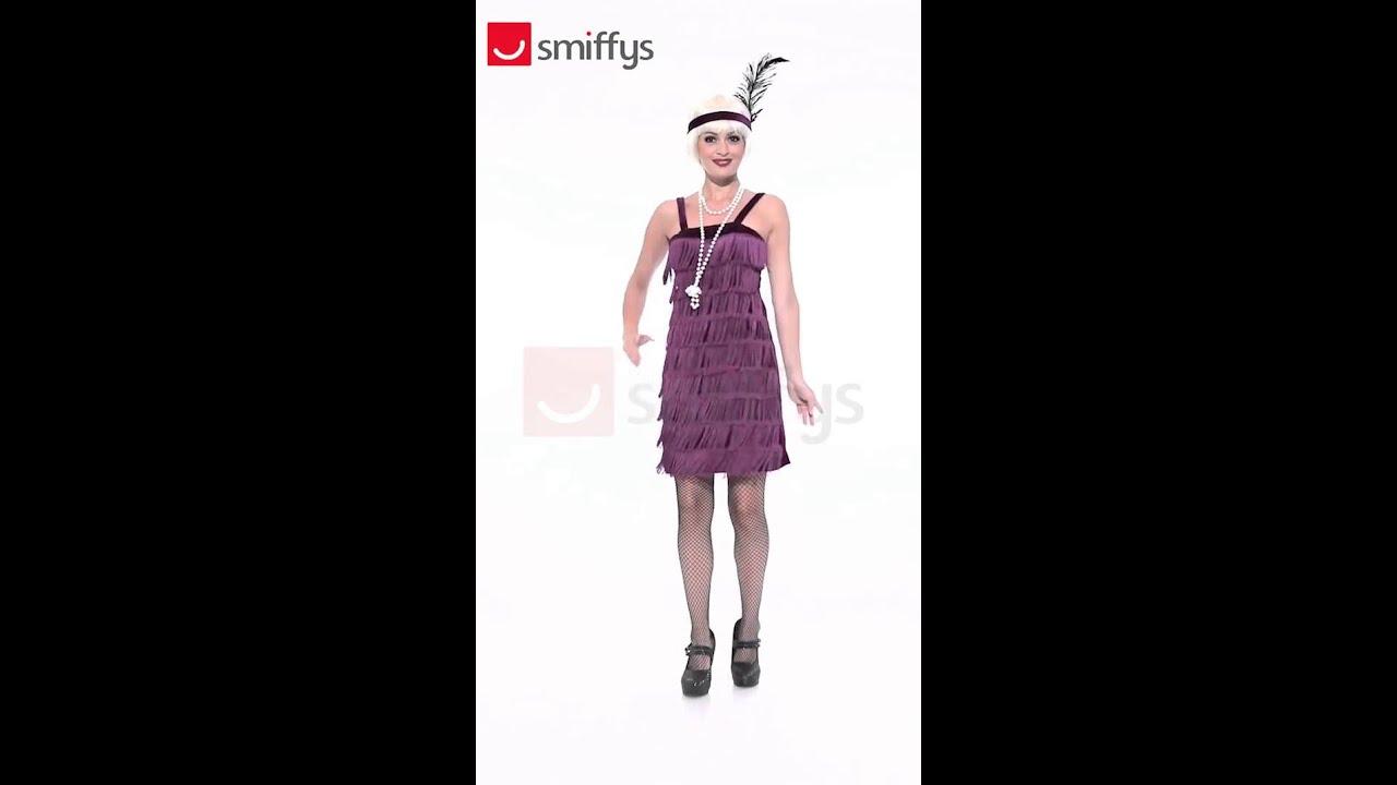 Disfraz de Charleston morado años 20 para mujer - YouTube