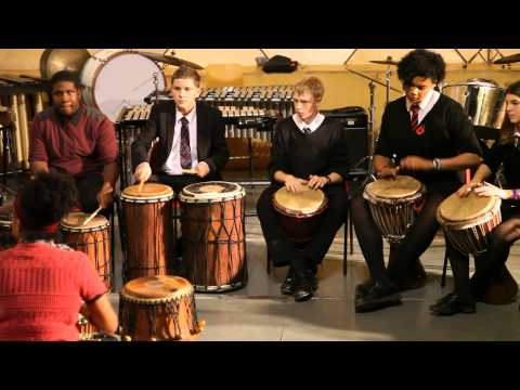 "Kingsdale Foundation School African Drumming Ensemble perform ""Burundi Groove"" Oct 2013"