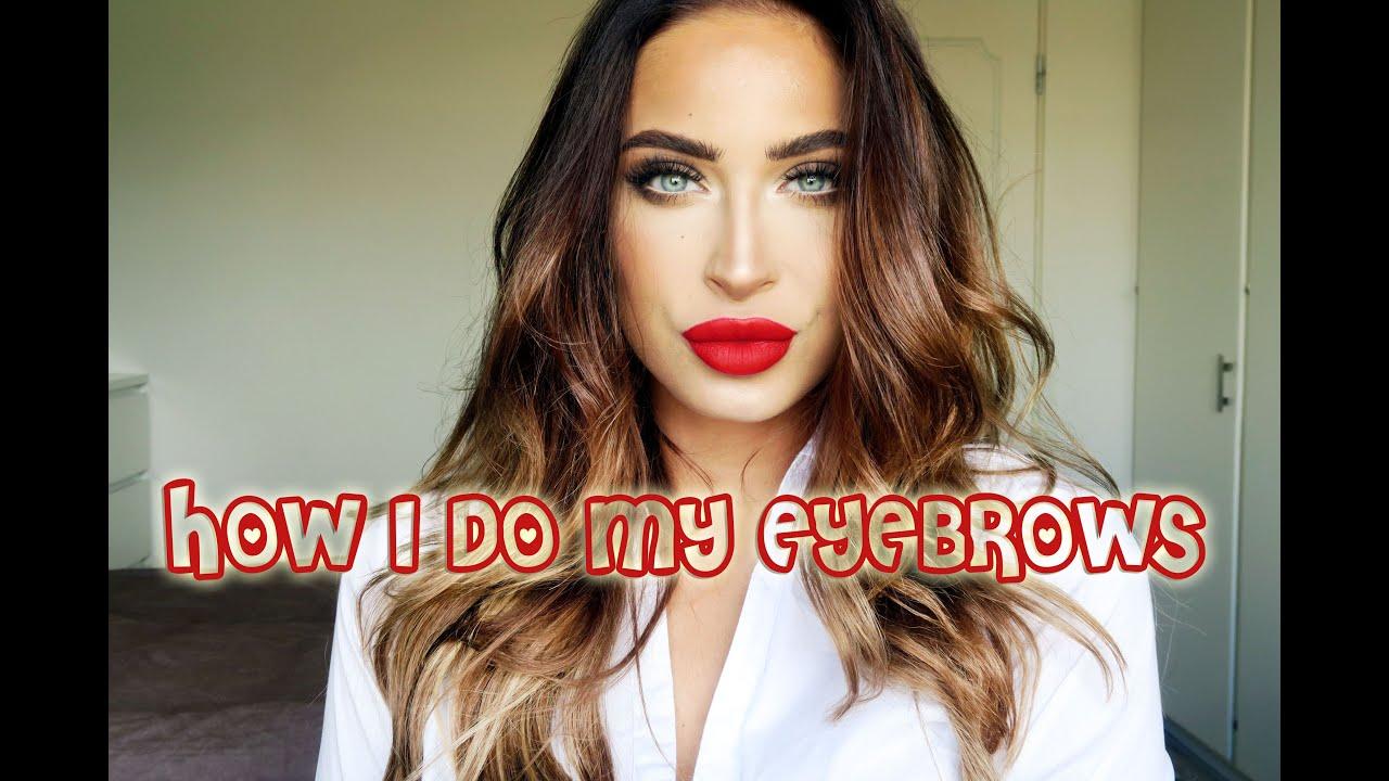 How I Do My Eyebrows Beautybyme Youtube