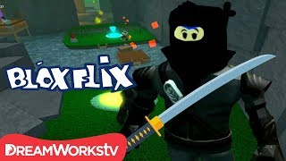 NINJA DEATH RUN in Roblox ft Gamer Chad Alan | BLOXFLIX | Game #withme