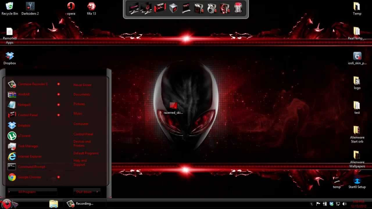 Windows 8 Theme : Transform Windows 8 to Alienware Red