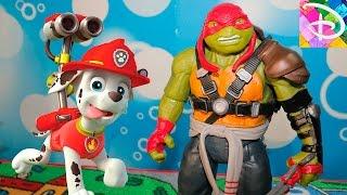 Щенячий патруль новые серии Развивающие мультфильмы для детей Игрушки Черепашки Ниндзя ПРЕВРАЩЕНИЕ