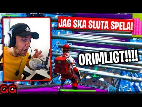 FROLLE SUPER RAGE I FORTNITE PARKOUR!! 😂 - Fortnite Creative på Svenska!