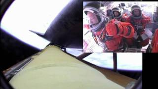 STS-135 Launch (Cockpit Superimposed)