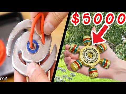 BEST DIY FIDGETSPINNERS TO MAKE AT HOME!!! (TOP 5)