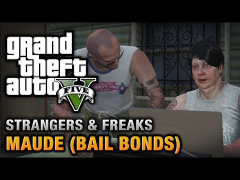 GTA 5 - Maude (Bail Bonds) [Wanted: Alive or Alive Achievement / Trophy]